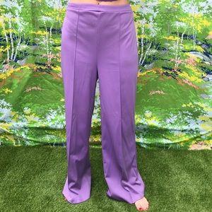 vintage hi rise purple polyester pants 32 waist